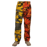 Rothco - Two-Tone Camo BDU Pants - Stinger Yellow / Savage Orange Camo