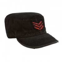 Rothco - Vintage Military Fatigue Cap With Red Stripes