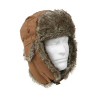 Rothco - Fur Flyer's Hat - Canvas - Tan