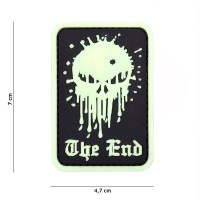101 inc - Patch 3D PVC Skull the end glow in the dark