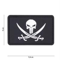 101 inc - Patch 3D PVC Punisher pirate black