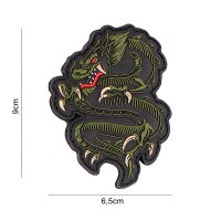 101 inc - Patch 3D PVC dragon green #5089