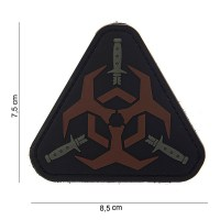 101 inc - Patch 3D PVC Outbreak response - Brown