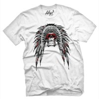 Fifty5 Clothing - Native Pride Skull Men's T Shirt - White