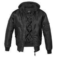 Brandit - MA1 Sweat Hooded Jacket - Black
