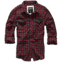 Brandit - Checkshirt Duncan - Red-Brown