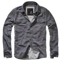 Brandit - Shirt in Tweedoptic - Anthra-Offwihte