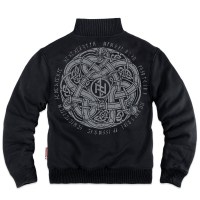 Dobermans - Celtic III classic zipped sheepskin sweatshirt - Black