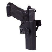 Helikon-Tex - Release Button Holster for Glock 17 with Molle Attachment - Military Grade Polymer - Black