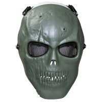 Max Fuchs - Face Mask skull deco full protection - OD green