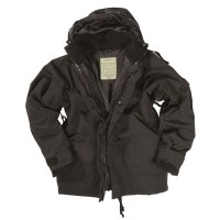 Sturm - Black Wet Weather Jacket with Fleece Liner