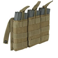 Voodoo Tactical - M4/M16 Open Top Mag Pouch w/ Bungee System Triple - Coyote