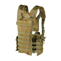 Voodoo Tactical - MOLLE Chest Rig - Coyote