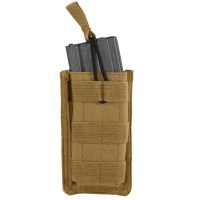Voodoo Tactical - M4/M16 Open Top Mag Pouch w/ Bungee System Single - Coyote
