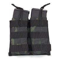 Voodoo Tactical - M4/M16 Open Top Mag Pouch w/ Bungee System Double - Multicam Black