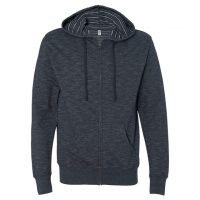 Independent Trading Co. - Baja Stripe French Terry Full-Zip Hood - Humo