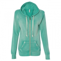 MV Sport - Women's Angel Fleece Sanded Full-Zip Hooded Sweatshirt - Jade