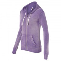 MV Sport - Women's Angel Fleece Sanded Full-Zip Hooded Sweatshirt - Orchid