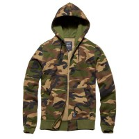 Vintage Industries - Redstone hooded sweatshirt - Woodland Camo