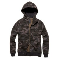 Vintage Industries - Basing hooded sweatshirt - Dark Camo