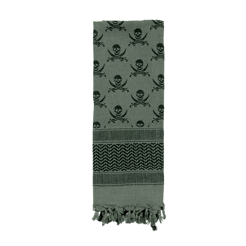 Rothco - Skulls Shemagh Tactical Desert Scarf - Foliage Green