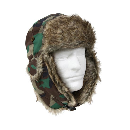 Rothco - Fur Flyer'S Hat - Woodland Camo