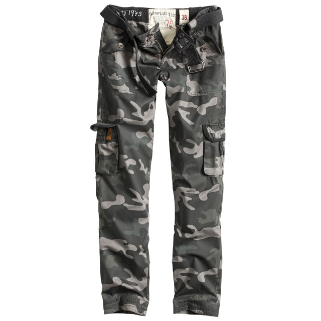 Surplus - Ladies Premium Trousers Slimmy - Black Camo