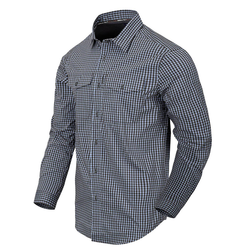 Helikon-Tex - Covert Concealed Carry Shirt - Phantom Grey Checkered