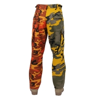 Rothco - Two-Tone Camo BDU Pants - Stinger Yellow / Savage Orange Camo