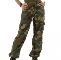 Rothco - Womens Camo Vintage Paratrooper Fatigue Pants - Woodland
