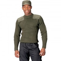 Rothco - Government Type Wool Commando Sweater - Olive Drab