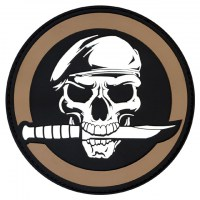 Rothco - PVC Military Skull & Knife Morale Patch