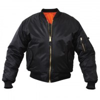 Rothco - MA-1 Flight Jacket - Black
