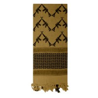 Rothco - Crossed Rifles Shemagh Tactical Scarf - Coyote Brown