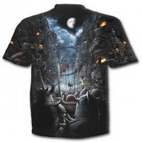 Spiral Direct - DEVILS PATHWAY - Allover T-Shirt Black