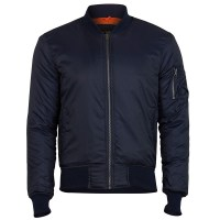 Surplus - Basic Bomber Jacket - Navy