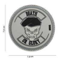 101 inc - Patch 3D PVC Death or glory grey #14038