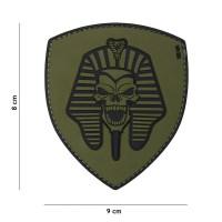 101 inc - Patch 3D PVC Pharaoh skull green