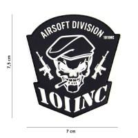 101 inc - Patch 3D PVC Airsoft Division 101 INC black