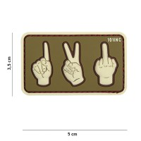101 inc - Patch 3D PVC one, two, fuck you green/sand