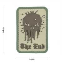 101 inc - Patch 3D PVC Skull The End coyote #12072