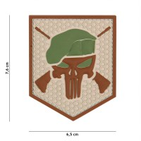 101 inc - Patch 3D PVC Commando Punisher coyote