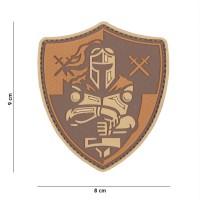 101 inc - Patch 3D PVC Knight shield brown