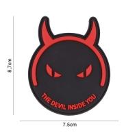 101 inc - Patch 3D PVC The Devil inside you zwart/rood #5124