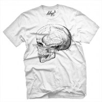 Fifty5 Clothing - Skull Anatomy Men's T Shirt - White