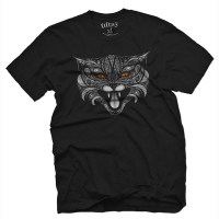 Fifty5 Clothing - Lucifer Mad Cat Men's T Shirt - Black