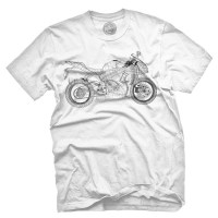 Fifty5 Clothing - Wireframe Motorcycle Men's T Shirt - White