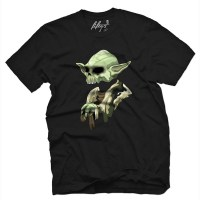 Fifty5 Clothing - Skull Master Jedi Yoda Men's T Shirt - Black