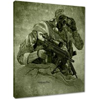 7.62 Design - Lightning's Hand Canvas Print