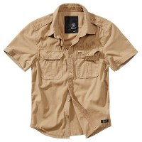 Brandit - Vintage Shirt shortsleeve - Camel